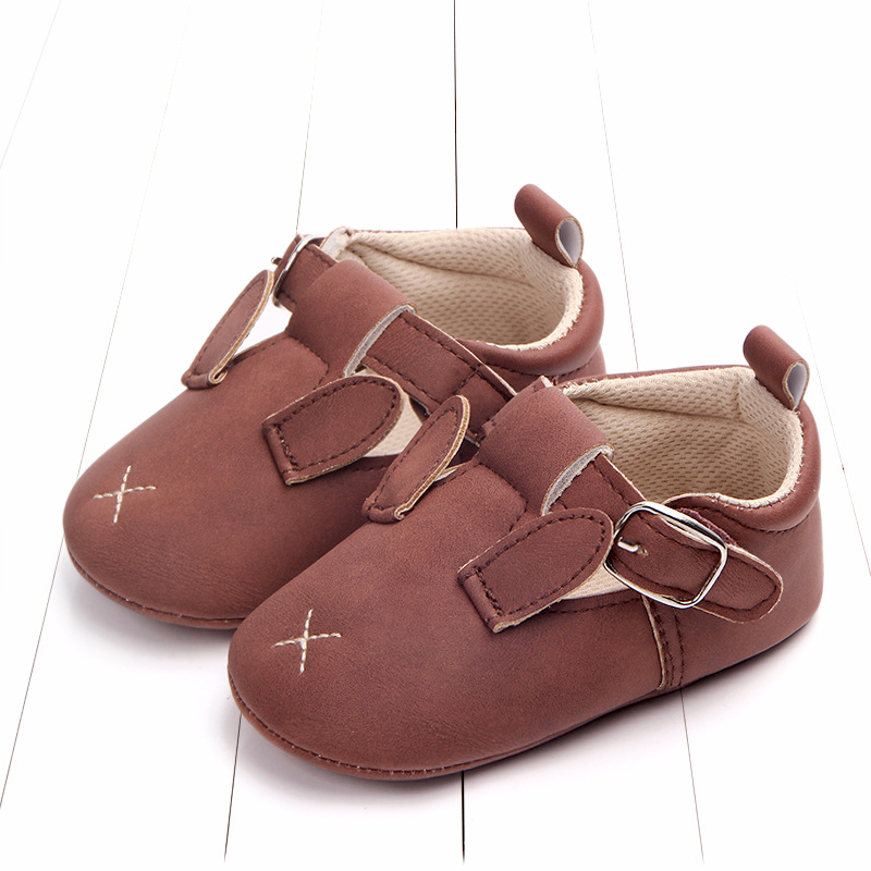 Baby First Walkers Matte leather Shoes for Baby Girl Boy Cartoon Animal Newborn Slippers Footwear Booties Kids Gift Child Shoes (32)