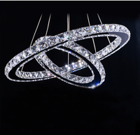 Stunning LED Crystal Chandelier Lighting Lamp Diameter 60 Cm 40cm Guaranteed100 Free Shipping