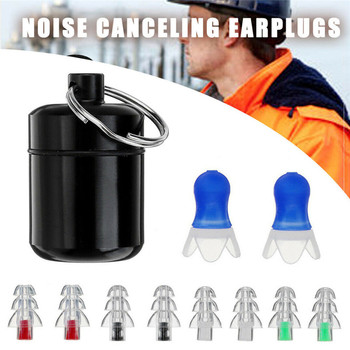 1 Pair Soft Silicone Ear Plug Noise Reduction Foam Earplug for Anti-Interferen Noise Insulation Prevention Earplugs for Sleep