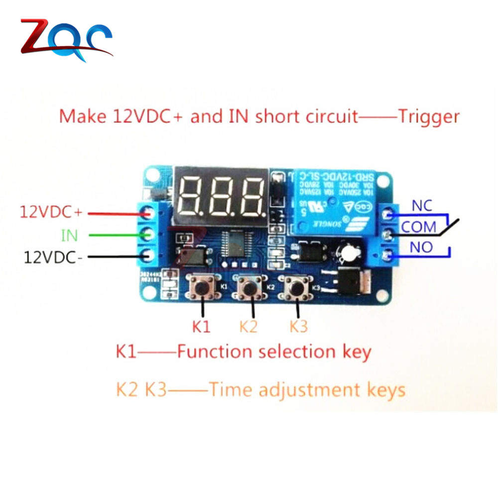 Dc 12v Led Digital Display Home Automation Delay Relay Trigger Time Dc5v To Dc30v Converter By 74hc14 Circuit Timer Control Cycle Adjustable Switch Module In Relays From