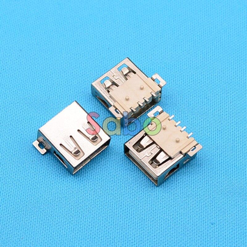цена на 10pcs USB 2.0 Female Connectors Soldering A Type Interface SMD 2.0 USB Female Port