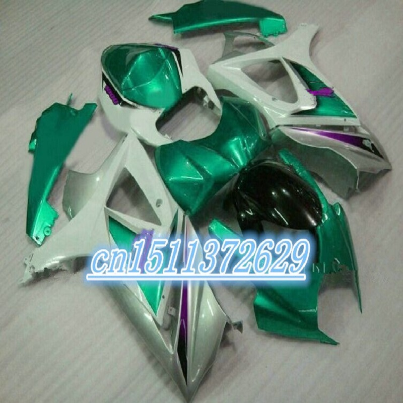 Dor-fairing <font><b>kit</b></font> for 07 08 <font><b>GSXR1000</b></font> A GSXR 1000 K7 <font><b>K8</b></font> fairings 2007 2008 black green for <font><b>SUZUKI</b></font> D image