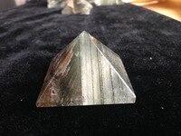 63g Doğal Temizle Yeşil Phantom Kuvars Kristal Piramit Şifa Reiki Kuvars Kristalleri Ürün Sıcak Satış