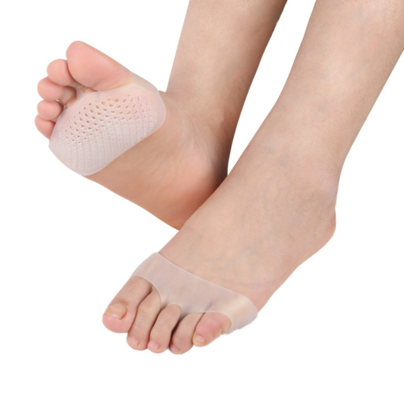 Unisex New Insoles Medical Honeycomb Silicone Gel Anti-slip Breathable Forefoot Half Yard Insoles Pain Relief Toes Pads Insolesr