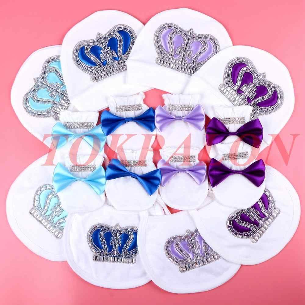 Детский хлопковый комбинезон для мальчиков, одежда для новорожденных мальчиков 0-3 месяца, с изображением короны из горного хрусталя, jurkje, белый цвет, детский пижамный комплект для мальчиков
