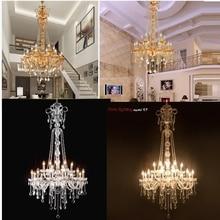 Длинная хрустальная люстра для лестницы, большая люстра для фойе, современная мода, для гостиной, столовой, сложная Люстра для лестницы