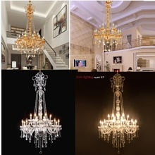 European Style Villa Crystal Large Pendant Modern Luxury Fashion Living Room Dining Hall Complex Staircase Lighting chandelier