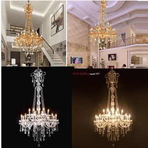 Image 1 - Long Stair Chandelier Crystal Large Foyer Light Modern Fashion Living Room Dining Hall Complex Staircase Lighting chandelier