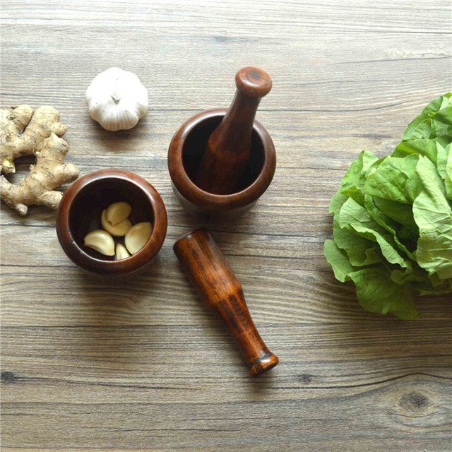 Superieur Wooden Garlic Pounder Mills For Salt/Pepper/Fruit/Vegetable Eco Friendly  Wood