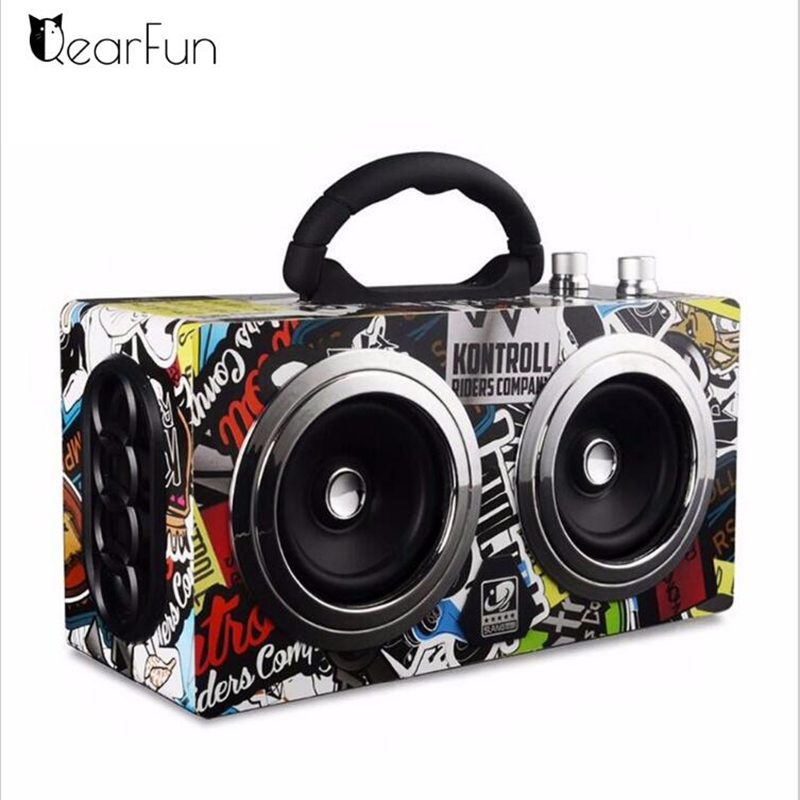 лучшая цена Portable Bluetooth Speaker Wireless Outdoor Stereo Bass Sound HiFi Loudspeaker 20W High Power Big Speaker with TF Card FM radio