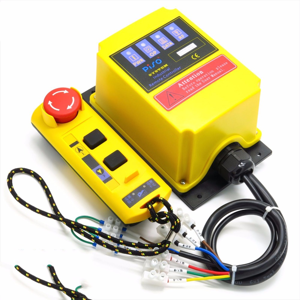 A2HH electric hoist with a direct control type industrial remote control built-in contactor with emergency stop cob 61zyk 3 send 1 receive direct control hoist remote control