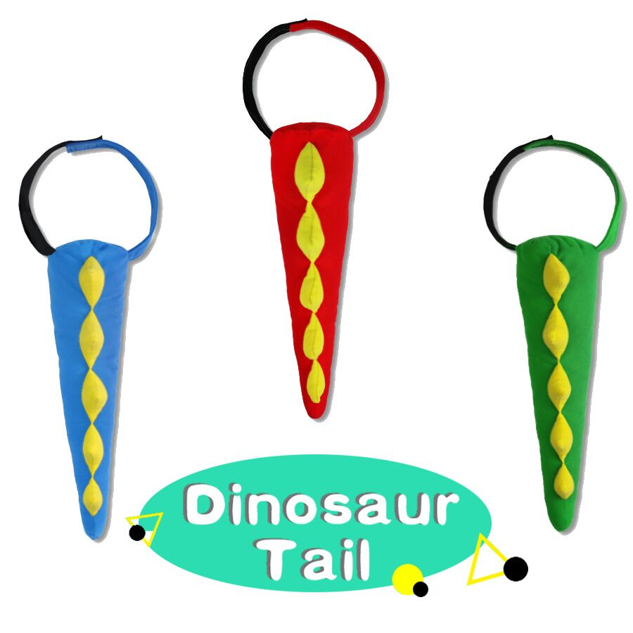 3 Pcs Special Soft Dinosaur Tails Costume Dino Theme Animal Tails Newborn Gift Costumes Halloween Gifts Boys Girls Toys in Costume Props from Novelty Special Use
