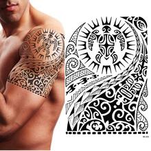 TRIBAL tymczasowy tatuaż żółw MAORI polinezyjski czarny męski damski tanie tanio MANZILIN HB523 15*21cm Tattoos on Transfer Paper BLACK