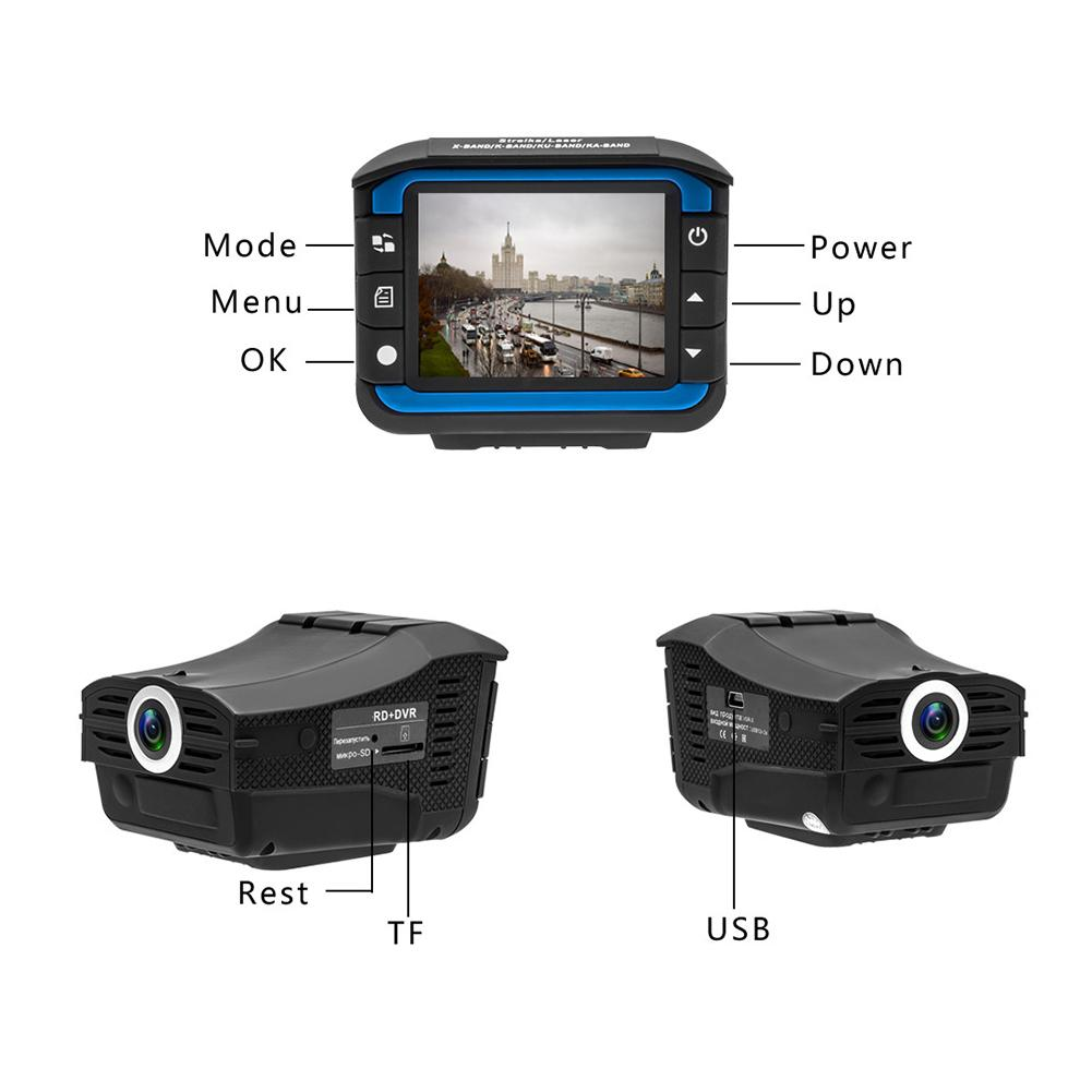 Image 2 - Car DVR Camera Recorder 2 In 1 Driving Recorder Anti Laser Car Radar Detector 140 Degree HD 720P Support English Russian-in DVR/Dash Camera from Automobiles & Motorcycles