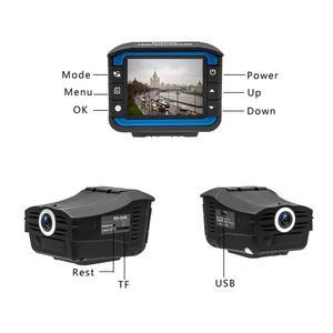 Image 2 - Samochód kamera DVR rejestrator 2 w 1 rejestrator jazdy anty Laser detektor radaru samochodowego 140 stopni HD 720 P wsparcie w języku angielskim rosyjski