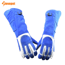 VOVOPET Dog Cat Anti-bite protective gloves Lengthen Soft Leather Thicken Anti biting Gloves Bite Pet Resistant Protective Glove