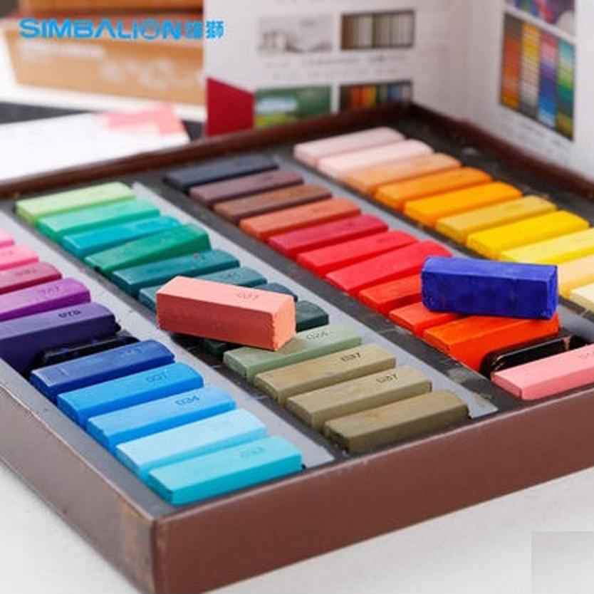 SIMBALION 24/48 colores pastel suave multicolor stick tiza hsp corto pincel de dibujo suministros de arte papelería