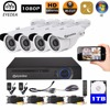 Eyedea 8 CH Surveillance DVR Recorder 1080P Bullet CMOS 5500TVL Outdoor Waterproof Night Vision CCTV Security