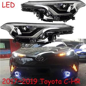 Image 5 - video 1pcs Bumper light for CHR HEAD lamp 2017 2018 2019 C HR HEADlamp led,car accessories,rush,CHR front light,car sticker,C HR