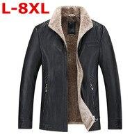Новый Большие размеры 8XL 9XL 7XL 6XL пилот кожаная куртка коричневый, черный Мех животных Пояса из натуральной кожи куртка Для мужчин зимние нату