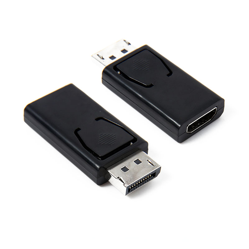 Black Display Port DP Male to HDMI Female Video Audio Converters Cable Adapter