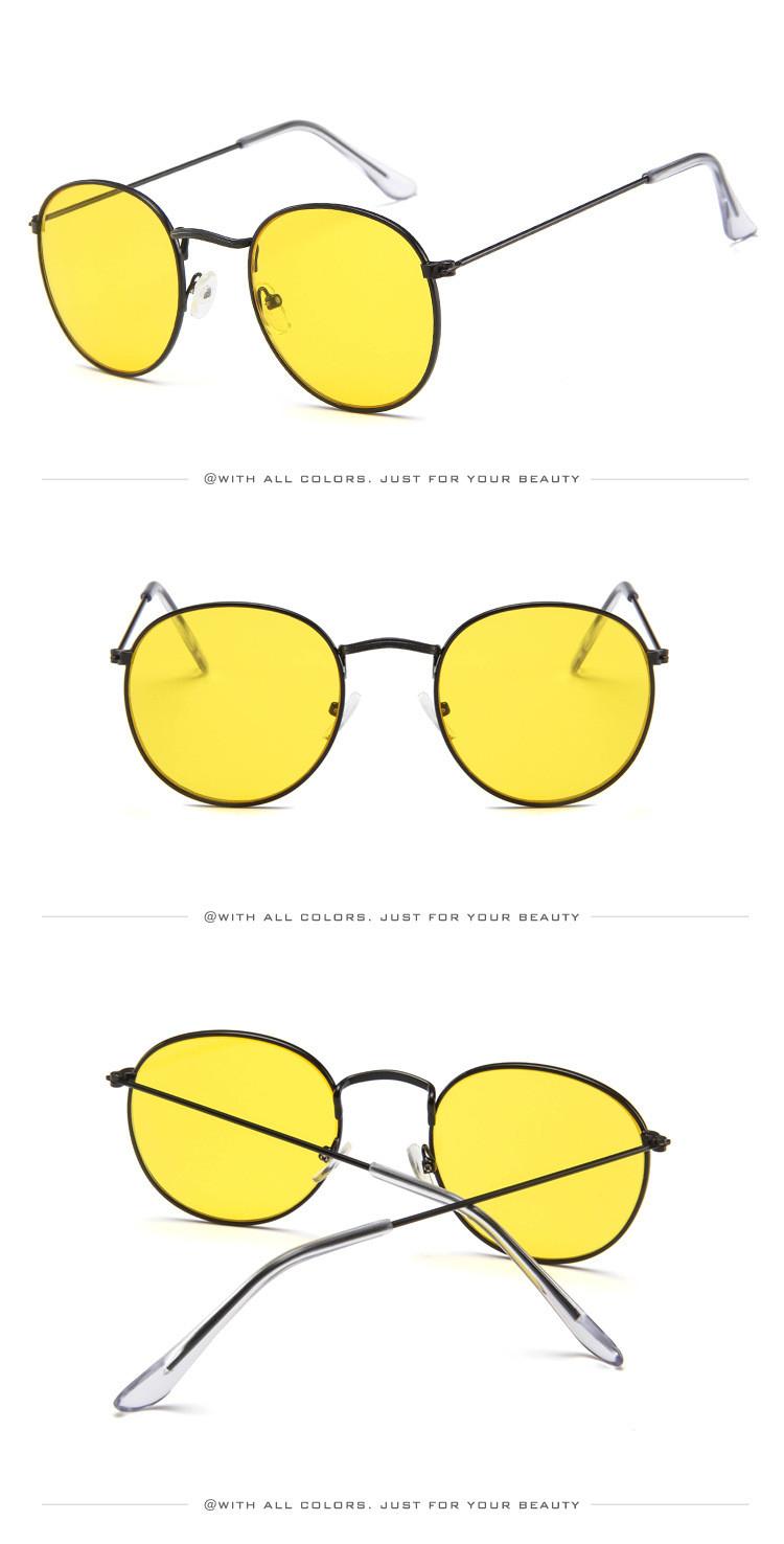 DJXFZLO Retro gafas de sol ovaladas vintage 6