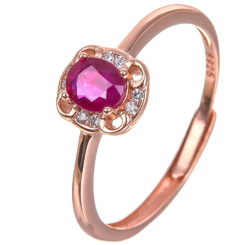Top Quality Simple Bezel Setting Natural Ruby Ring Wedding Ring Jewelry Full Sizes Wholesale