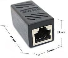 2 Pack RJ45 Coupler ethernet cable coupler LAN connector inline Cat7/Cat6/Cat5e Ethernet Cable Extender Adapter Female to Female