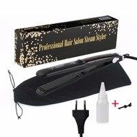 Professional 450F Ceramic Vapor Steam Hair Straightener With Argan Oil Infusion Steam Flat Iron Ceramic Vapor