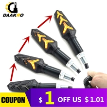 4PCS Motorcycle LED Flowing Water Turn Signals Blinker Flashing Lights Built Relay Bendable Tail Flasher Indicator