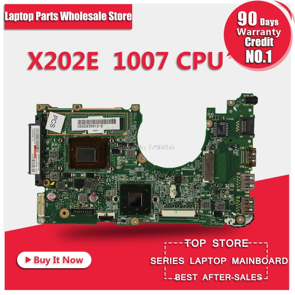 for ASUS X202E Q200E motherboard X201E X202E S200E 1007 4G USB3.0 REV2.0 HD Graphics Integrated x202e q200e s200e x201e laptop motherboard mainboard for asus with i3 2365cpu 4g ddr3 1333 mhz tested