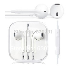 100% Guarantee Original and Brand New Headset Earpods Earphone For iPhone 5 5S 5C 6 6 plus Free Shipping