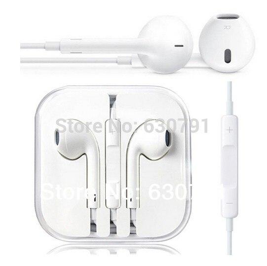 Garantia 100% original e brand new fone de ouvido fone de ouvido earpods para iphone 5 5s 5c 6 6 plus frete grátis