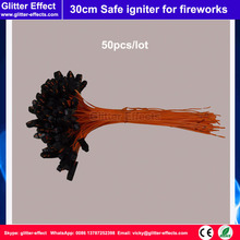 50pcs/lot 30cm long safe igniter wire head for connection pyrotechnic fireworks firing system