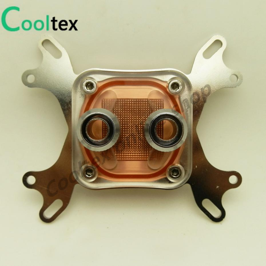 100%New Cpu Water Block Water Cooling Cooler  Computer Cooling  Radiator For Intel & AMD With Mounting Screws Recommend! bykski multicol water cooling block cpu radiator use for amd ryzen am3 am4 acrylic cooler block 0 5mm waterway matel bracket