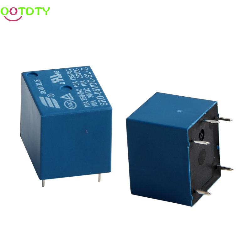 5Pcs 5 Pins Relay DC12V 10A High Current Coil Power PCB SRD-12VDC-SL-C 828 Promotion srd 05vdc sl c