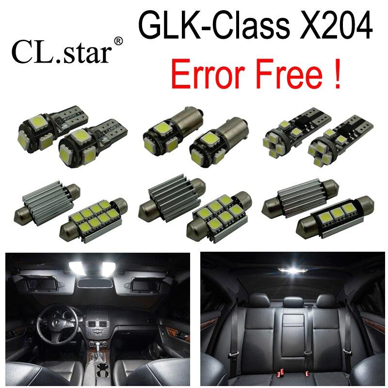 ФОТО 17pcs Error free LED Reading Lamp Interior dome Light Kit For Mercedes For Mercedes-Benz GLK class X204 GLK200 GLK220 GLK250