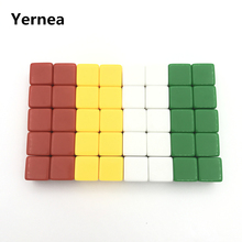 Yernea High-quality 50Pcs/Lot 16mm Blank Dice D6 Color  Can Write and Carving Children Teaching Game Wholesale