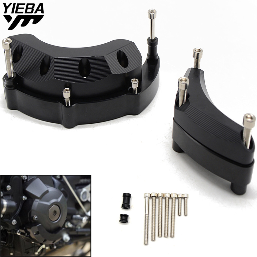 Motorcycle Stator Engine Guard Case Slider Cover Protector for YAMAHA MT09 MT-09 MT 09 MT09 TRACER FZ09 FZ-09 FZ 09 FJ09 FJ-09 for yamaha fz 09 mt 09 fz 09 2014 2018 tracer 900 mt 09 tracer fj 09 motorcycle rear brake fluid reservoir guard cover protector
