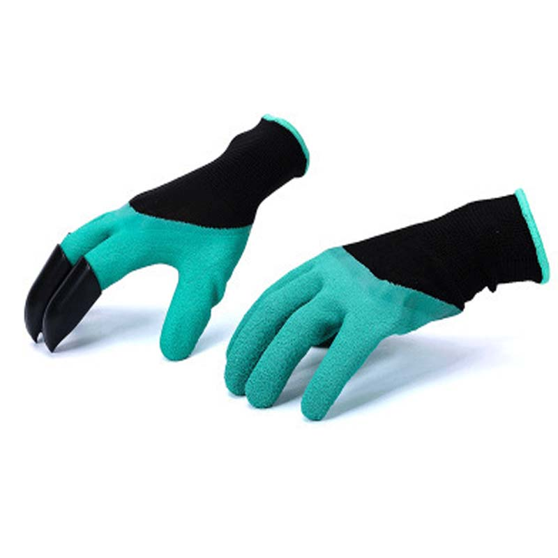 Garden Genie Gloves with Fingertips Uniex Claws Quick Easy to Dig and Plant Safe for Rose Pruning Gloves Mittens Digging gloves scheppach green garden digging gloves with 4 abs plastic claws for garden digging planting 1 pair garden digging gloves tools