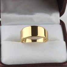 Широкий облегченная версия золотой цвет кольца Нержавеющей Стали 316L кольцо перста мужчины женщины ювелирные изделия оптовая продажа ювелирных изделий