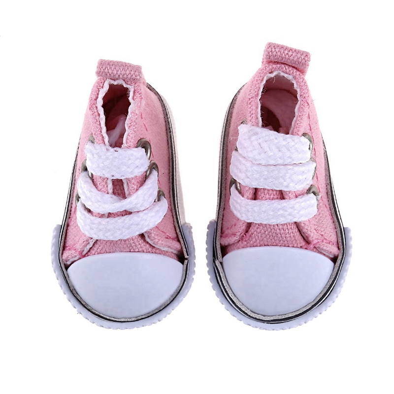 Doll Accessories 1Pair 5cm Leather Shoes Fashion Toy Lace Canvas Christmas Gift