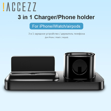 !ACCEZZ Phone Holder Stand Magnetic Charging For iphone X XS MAX XR 8 AirPods Apple Watch 4 Charger Android Charge