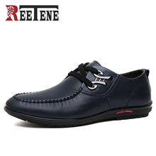 REETENE Marque Mode Hommes Casual Chaussures de Haute Qualité PU En Cuir Chaussures Hommes Respirant Plat Avec Hommes Chaussures Chaussures de Conduite