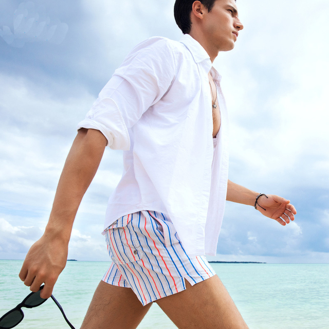 New Style S18 Men Stripe Shorts Summer Shorts Men Hot Fashion Beach Shorts Men Board Shorts Plus Szie S-XXXL 8