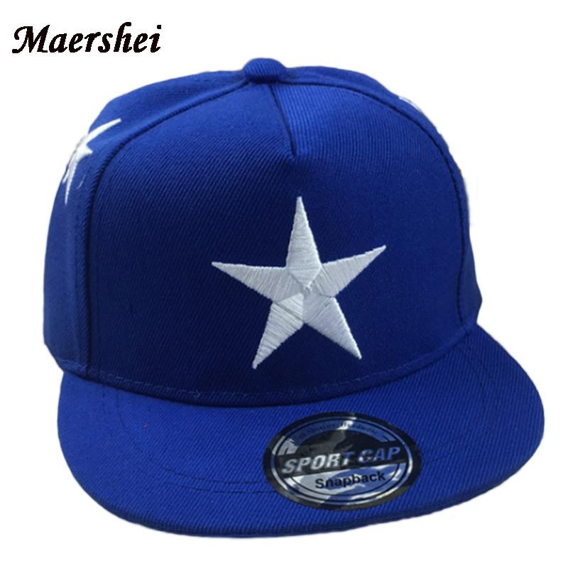MAERSHEI Children's Snapback Baseball Cap Boy Spring Fashion Casual Hip hop Hat Bone Casquette kids hat cap gorras girl Pentagra