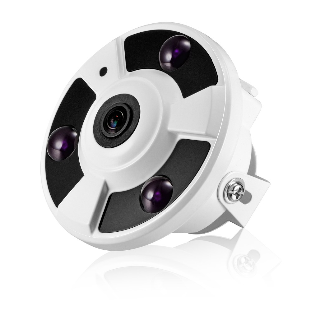 HKES FishEye Panoramic Camera IP 720P 960P 1080P Optional IP Camera Wide Angle 5MP 1.7MM Lens Camera CCTV Indoor ONVIF купить
