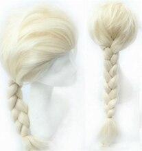 Blanco trenza larga peluca de pelo princesa pelo de la trenza trenza floja princesa cosplay del anime de la peluca cosplay