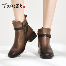 Autumn winter new lady pointed low heel Martin boots fashion leisure warm female