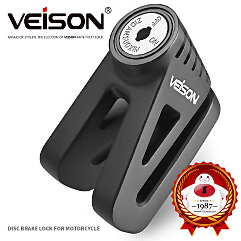 VEISON Motorcycle Zinc Alloy Scooter/Bike Disc Brake Lock Motorcycle Brake Safety Anti-Theft Accessories Anti-Theft Padlock